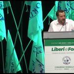 Congresso Lega: Salvini, oggi lanciamo battaglia su tema del lavoro. Nostro 13% puo' raddoppiare, non siamo il partito delle correnti