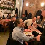 Grimoldi, cena col gruppo di Regione Lombardia e il Presidente Fontana